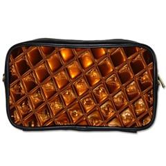 Caramel Honeycomb An Abstract Image Toiletries Bags by Simbadda