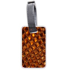 Caramel Honeycomb An Abstract Image Luggage Tags (two Sides) by Simbadda