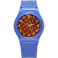 Caramel Honeycomb An Abstract Image Round Plastic Sport Watch (s) by Simbadda