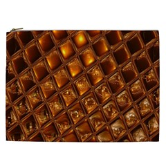 Caramel Honeycomb An Abstract Image Cosmetic Bag (xxl)