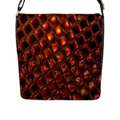 Caramel Honeycomb An Abstract Image Flap Messenger Bag (l)  by Simbadda