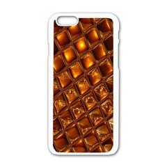 Caramel Honeycomb An Abstract Image Apple Iphone 6/6s White Enamel Case by Simbadda