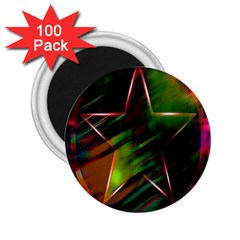 Colorful Background Star 2 25  Magnets (100 Pack)  by Simbadda