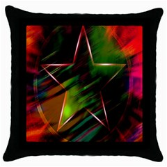 Colorful Background Star Throw Pillow Case (black)