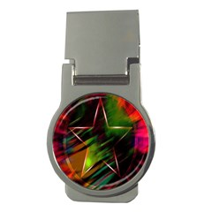 Colorful Background Star Money Clips (round)  by Simbadda