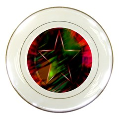 Colorful Background Star Porcelain Plates by Simbadda