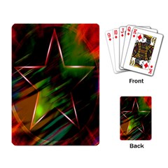 Colorful Background Star Playing Card by Simbadda