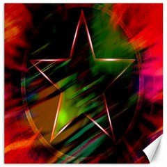 Colorful Background Star Canvas 12  X 12   by Simbadda