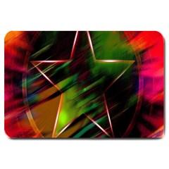 Colorful Background Star Large Doormat  by Simbadda