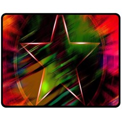 Colorful Background Star Fleece Blanket (medium)  by Simbadda