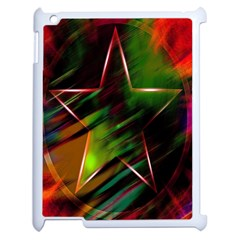 Colorful Background Star Apple Ipad 2 Case (white) by Simbadda