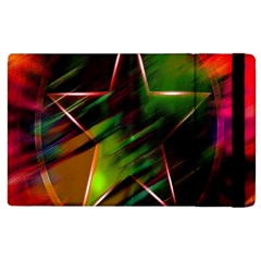 Colorful Background Star Apple Ipad 2 Flip Case by Simbadda