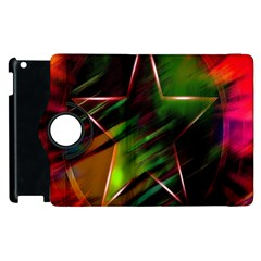 Colorful Background Star Apple Ipad 3/4 Flip 360 Case by Simbadda