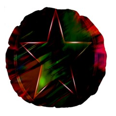 Colorful Background Star Large 18  Premium Round Cushions by Simbadda