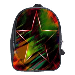 Colorful Background Star School Bags (xl)  by Simbadda
