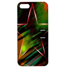 Colorful Background Star Apple Iphone 5 Hardshell Case With Stand by Simbadda