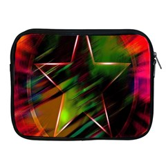 Colorful Background Star Apple Ipad 2/3/4 Zipper Cases by Simbadda