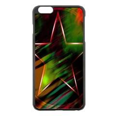 Colorful Background Star Apple Iphone 6 Plus/6s Plus Black Enamel Case
