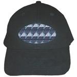 Snow Peak Abstract Blue Wallpaper Black Cap Front