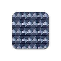 Snow Peak Abstract Blue Wallpaper Rubber Square Coaster (4 Pack)  by Simbadda