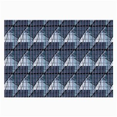 Snow Peak Abstract Blue Wallpaper Large Glasses Cloth by Simbadda