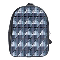Snow Peak Abstract Blue Wallpaper School Bags(large)  by Simbadda