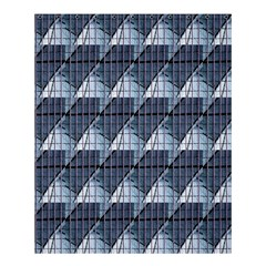 Snow Peak Abstract Blue Wallpaper Shower Curtain 60  X 72  (medium)  by Simbadda