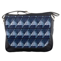 Snow Peak Abstract Blue Wallpaper Messenger Bags by Simbadda