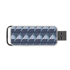 Snow Peak Abstract Blue Wallpaper Portable Usb Flash (one Side) by Simbadda
