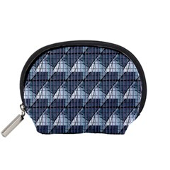 Snow Peak Abstract Blue Wallpaper Accessory Pouches (small)  by Simbadda