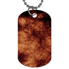 Abstract Brown Smoke Dog Tag (one Side) by Simbadda