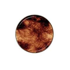 Abstract Brown Smoke Hat Clip Ball Marker by Simbadda