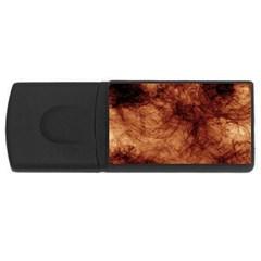 Abstract Brown Smoke Usb Flash Drive Rectangular (4 Gb) by Simbadda