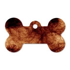 Abstract Brown Smoke Dog Tag Bone (two Sides) by Simbadda
