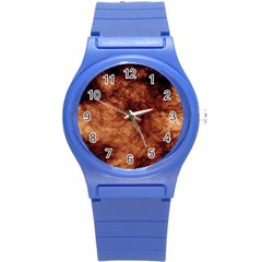 Abstract Brown Smoke Round Plastic Sport Watch (s) by Simbadda