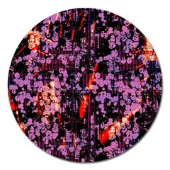 Abstract Painting Digital Graphic Art Magnet 5  (round) by Simbadda
