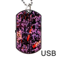 Abstract Painting Digital Graphic Art Dog Tag Usb Flash (one Side) by Simbadda