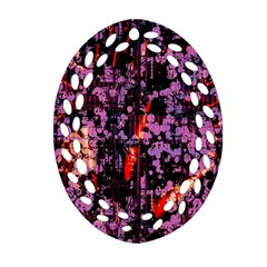 Abstract Painting Digital Graphic Art Ornament (oval Filigree) by Simbadda