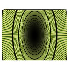 Spiral Tunnel Abstract Background Pattern Cosmetic Bag (xxxl)  by Simbadda