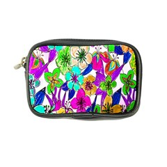Floral Colorful Background Of Hand Drawn Flowers Coin Purse by Simbadda