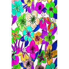 Floral Colorful Background Of Hand Drawn Flowers 5 5  X 8 5  Notebooks by Simbadda