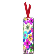 Floral Colorful Background Of Hand Drawn Flowers Small Book Marks by Simbadda