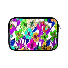 Floral Colorful Background Of Hand Drawn Flowers Apple Ipad Mini Zipper Cases by Simbadda