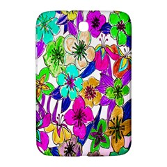 Floral Colorful Background Of Hand Drawn Flowers Samsung Galaxy Note 8 0 N5100 Hardshell Case  by Simbadda