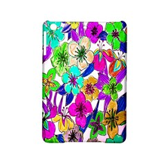 Floral Colorful Background Of Hand Drawn Flowers Ipad Mini 2 Hardshell Cases by Simbadda