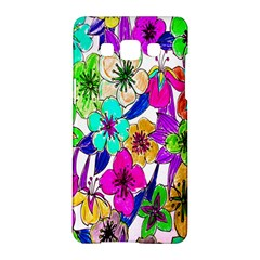 Floral Colorful Background Of Hand Drawn Flowers Samsung Galaxy A5 Hardshell Case  by Simbadda