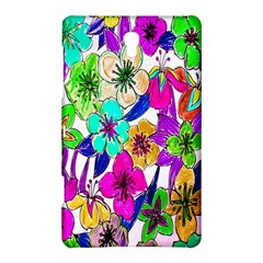 Floral Colorful Background Of Hand Drawn Flowers Samsung Galaxy Tab S (8 4 ) Hardshell Case  by Simbadda