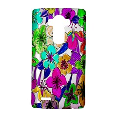 Floral Colorful Background Of Hand Drawn Flowers Lg G4 Hardshell Case by Simbadda