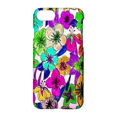 Floral Colorful Background Of Hand Drawn Flowers Apple Iphone 7 Hardshell Case by Simbadda