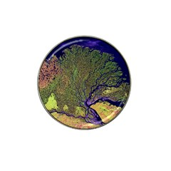 Lena River Delta A Photo Of A Colorful River Delta Taken From A Satellite Hat Clip Ball Marker (4 Pack) by Simbadda